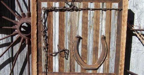 pin by barbed wire on rustic southwest native american reclaimed barn wood wall art with old workhorse horseshoes