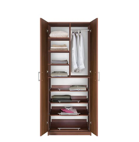 Storage Wardrobe With Shelves by Supreme Wardrobe Storage 7 Foot Closet With Sliding Shelves Contempo Space