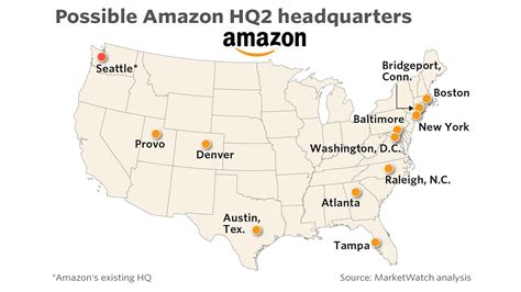 amazon hq2 here are the cities that meet the criteria for amazon s