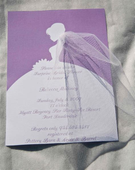 Bridal Shower Invitations by Bridal Shower Invitations Silhouette By