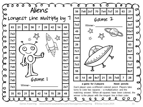 printable multiplication games for 3rd grade fun games 4 learning more no prep math games freebies