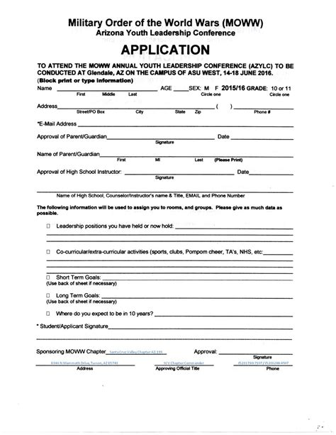 Software Application Template Youth Application Form Template Beautiful Template