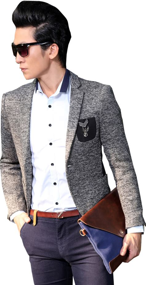 Jfashion Mens Ekslusif Blazer Stephen new gentleman fashion grey blazer