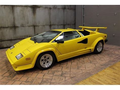 yellow lamborghini countach 1988 lamborghini countach 13890 yellow 12 cylinder 5