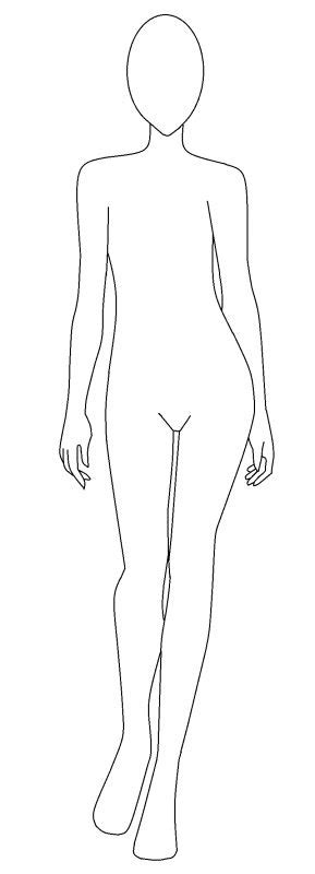 fashion design body outline www pixshark com images