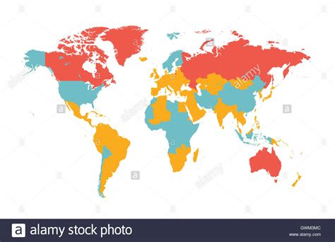 flat world map vector world map vector flat with countries stock photo royalty