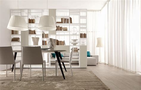 mobili per salotti libreria bifacciale per salotti moderni e sale da pranzo