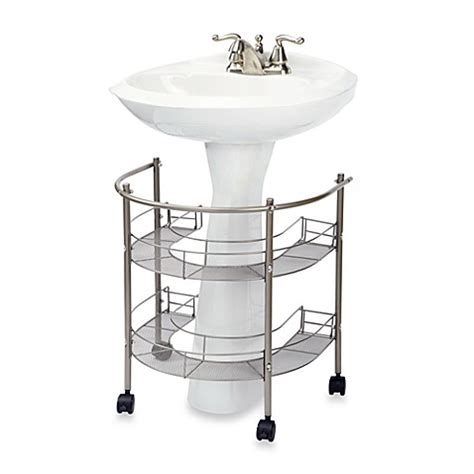 Bathroom Pedestal Sink Storage Buy Rolling Organizer For Pedestal Sink From Bed Bath Beyond
