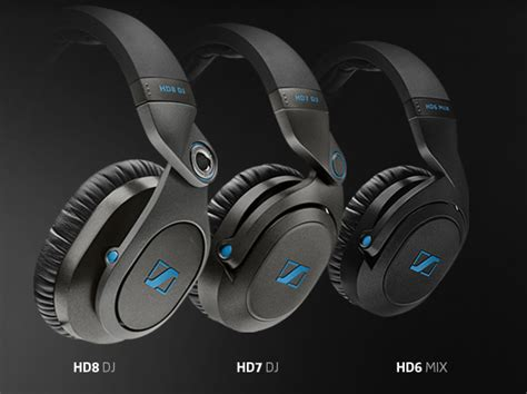 Headphone Sennheiser Hd7 Dj sennheiser releases hd6 hd7 and hd8 dj series headphones your edm