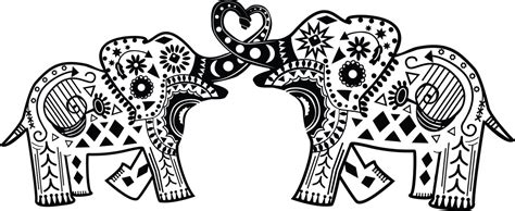 aztec elephant coloring page easy printable for adults coloring pages aztec elephant