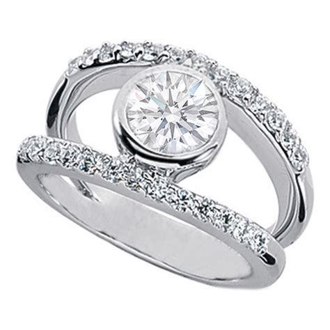 split band european engagement rings from mdc diamonds nyc