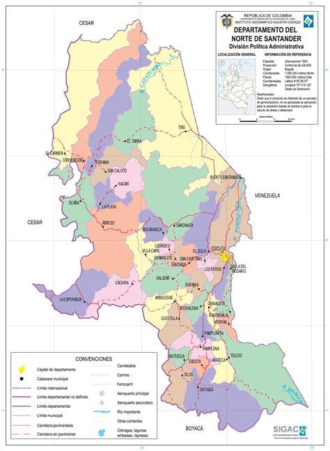 santa anita limita con el norte norte de santander mapa de ciudades y municipios