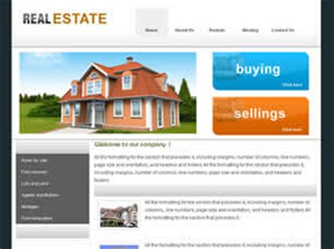 Free Real Estate Website Templates 27 Free Css Free Real Estate Website Templates