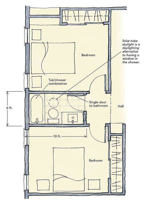 house plans with jack and jill bathrooms 10 best jack and jill bathroom floor plans images on