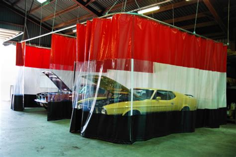 auto body curtains body shop curtains auto guard autobody partition walls