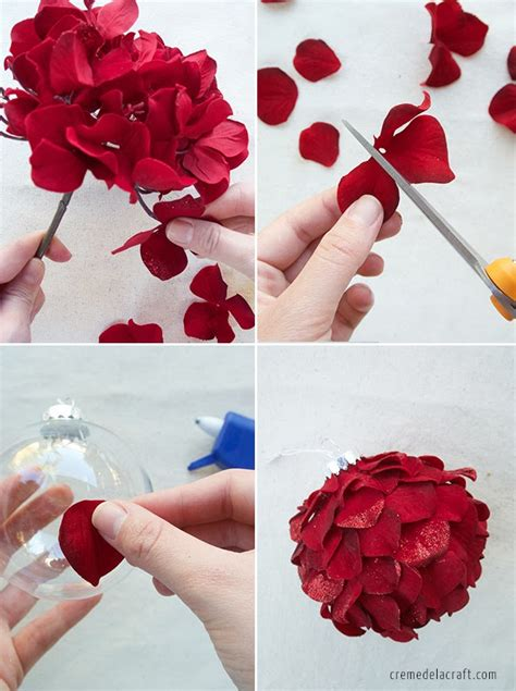 How To Make Artificial Flowers With Paper - diy ornaments from silk flowers
