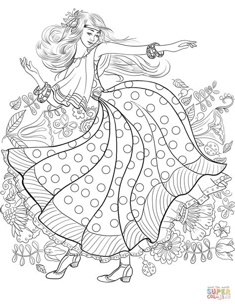 60 Coloring Page by Hippy From 60 S Coloring Page Free