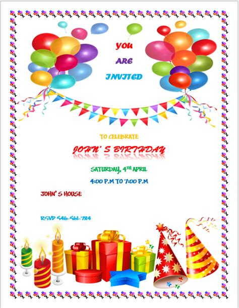 birthday flyer template printable birthday flyers images