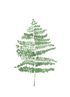 inkjet tattoo paper nz silver fern watercolor painting nature art print fern