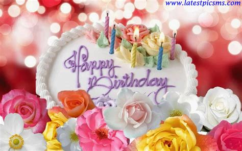 flower wallpaper with message happy birthday wishes images flowers and cakes happy
