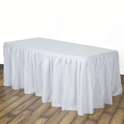 banquet table linens wholesale 17 x 29 quot polyester banquet table skirt wedding