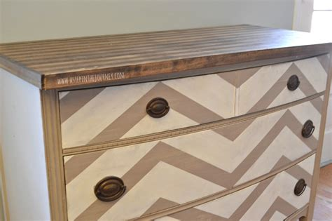 Kitchen Buffet With Butcher Block Top Repurposed Dresser To Chevron Kitchen Buffet With Butcher