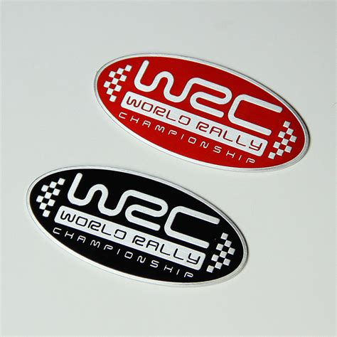 Rally Aufkleber Auto by 2 Colors 3d Aluminum Wrc Car Stickers World Rally