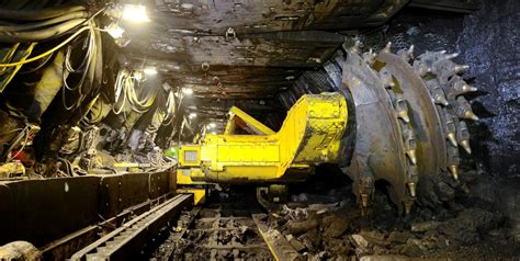 Miner L mining equipment on heavy equipment logging equipment and tractor pulling