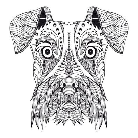 tattoo mandala zum ausmalen kostenloses ausmalbild hund schnauzer die gratis