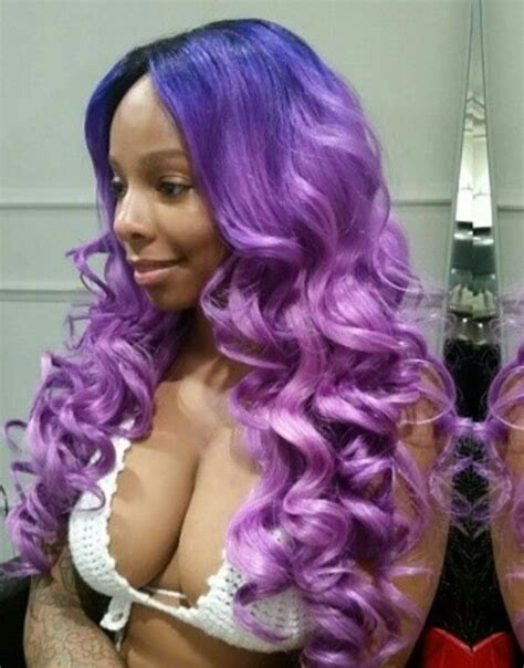 weave hairstyles with purple tips purple dyed sew in weave hair urban hairstyles natural