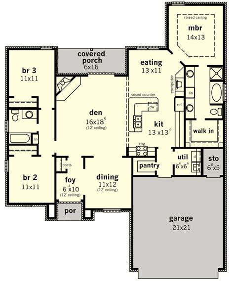 one level home plans one level european home plan 83104dc architectural
