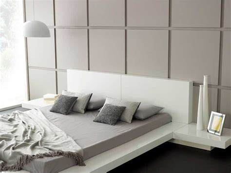 White Bed by Modern Bedroom Furniture Emer White Platform Bed Living