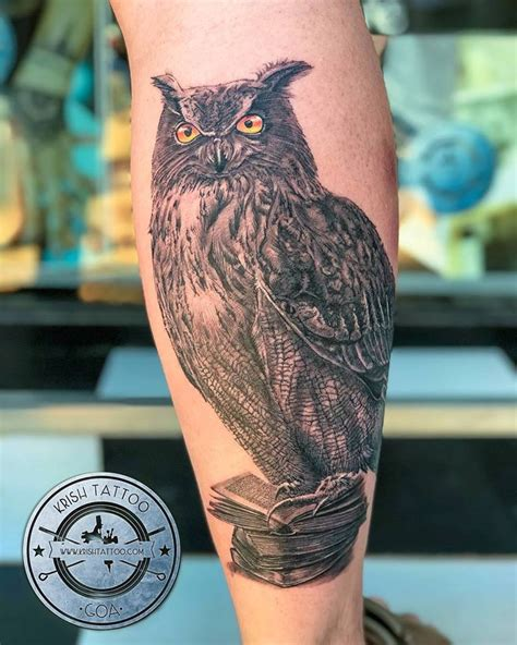 realistic owl tattoo realistic owl by artist vijay at krish