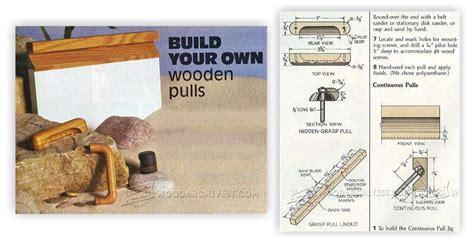 Shop Made Drawer Pulls by Diy Wooden Drawer Pulls Woodarchivist