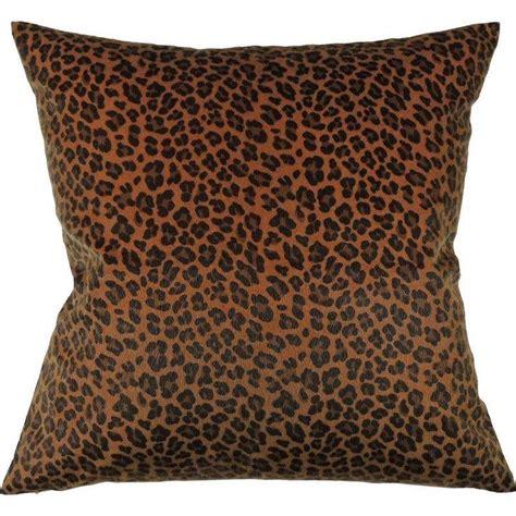 blue leopard print square pillow