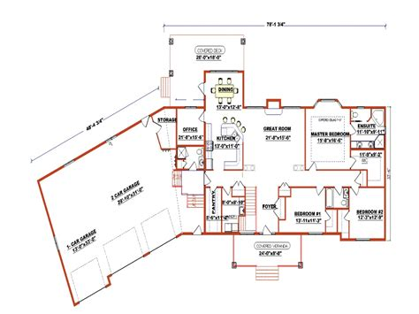 ranch style bungalow floor plans ranch style floor plans with angled garage ranch style