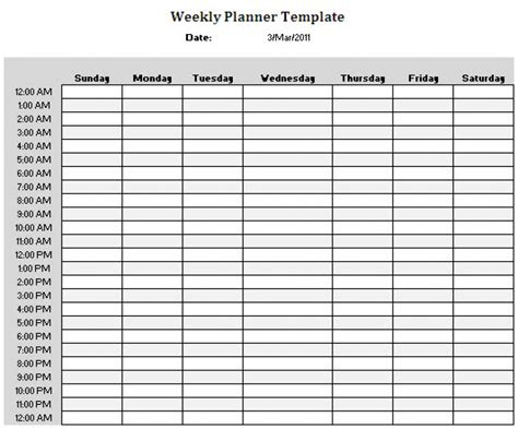 printable calendar hourly 24 hour calendar template online calendar templates
