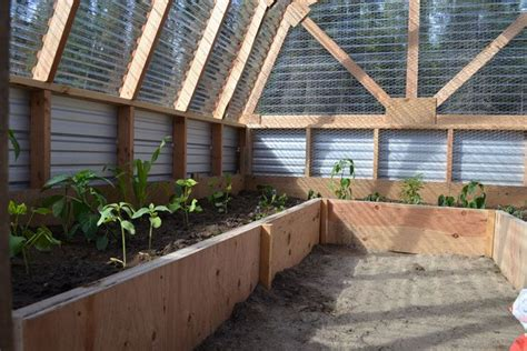 raised bed greenhouse inside greenhouse plans plants gardening pinterest