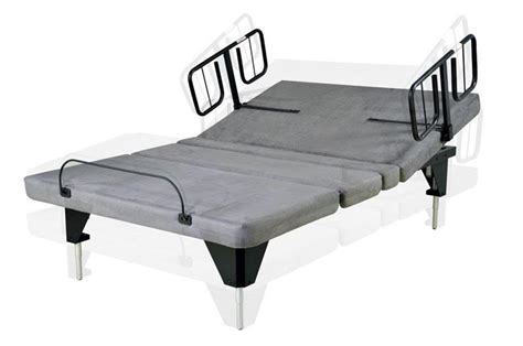 assured comfort adjustable bed  wooden headboard