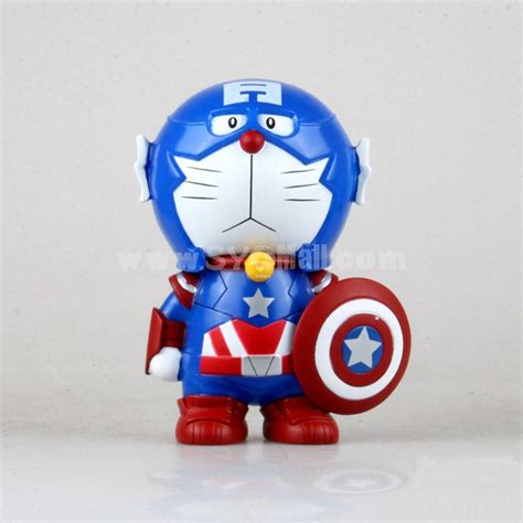 Miniatur Doraemon Capten Amerika captain america doraemon piggy bnak money box bt90 sygmall