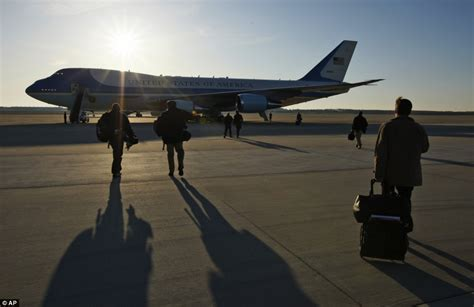 all aboard the air one all the president s obama flies in to britain with