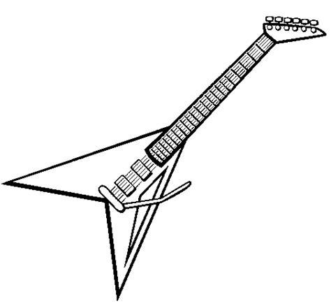 imagenes de guitarras rockeras para colorear dibujo de guitarra el 233 ctrica ii para colorear dibujos net