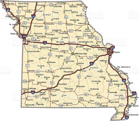 missouri map directions missouri highway map stock vector 148502976 istock