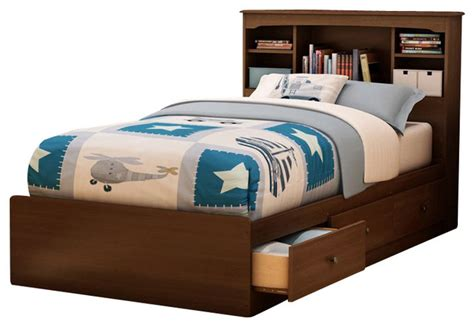 twin bed frames for kids south shore nathan kids twin mates storage bed frame only in cherry finish