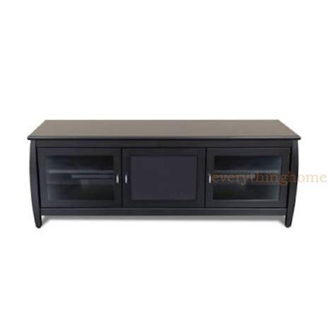 Black Tv Credenza 60 quot wide modern credenza a v black tv credenza stand cabinet solid wood veneer
