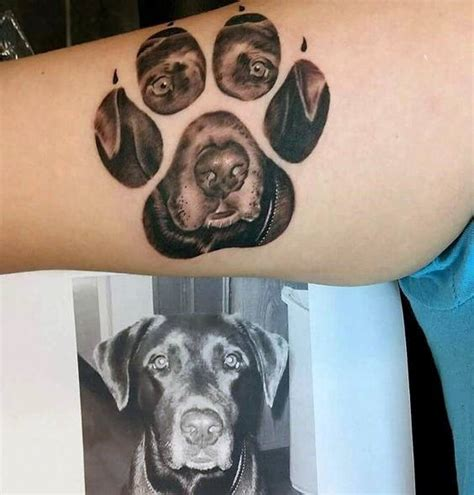 black lab tattoo 70 paw designs for canine print ink ideas