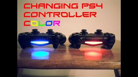 ps4 controller color change can you change your ps4 controller light colors