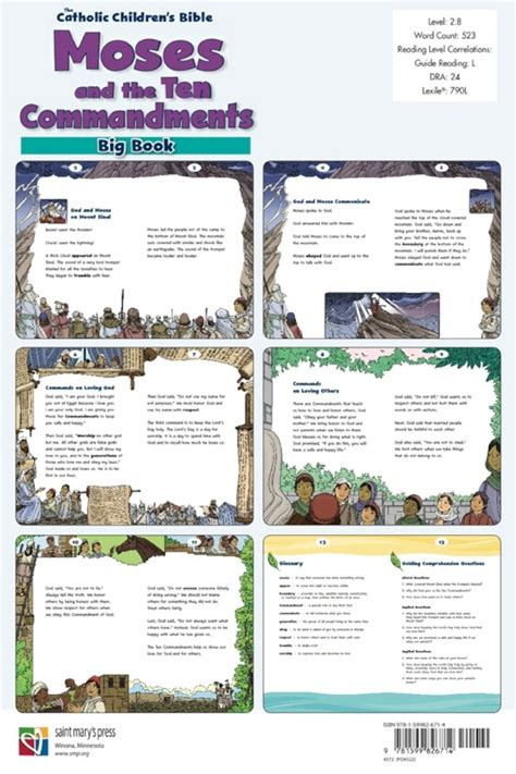 moses and the big science and creation books moses and the ten commandments big book