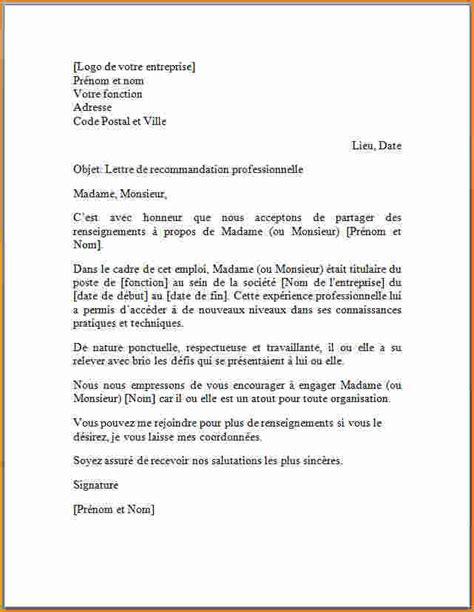 Lettre De Recommandation Gardienne 10 Mod 232 Le Lettre De Recommandation Professionnelle Exemple Lettres
