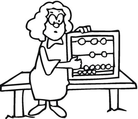 math teacher coloring pages best teacher clipart black and white 24807 clipartion com